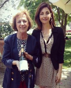 With Genevieve Janssens, chief wine maker at Mondavi's
