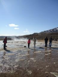 Enjoying the Strokur geyser