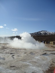 The Strokur geyser - after the eruption