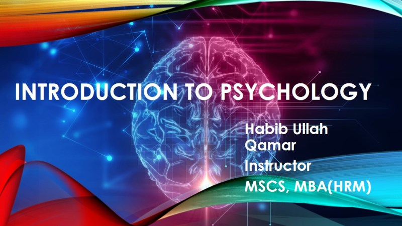 BBA-104 Introduction to Psychology Study Material – Download Helping handouts pdf slides