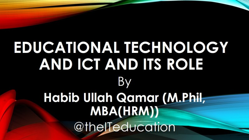 educational technology and AV AIDS AIOU ICT role education