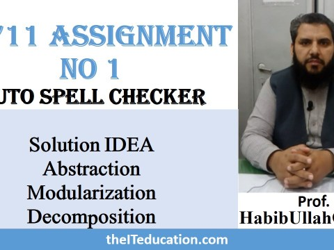 CS711 Assignment Solution no1 2019