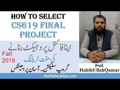 CS619 Final Project Selection Fall 2019 –  Virtual University of Pakistan Easy Project List 2019