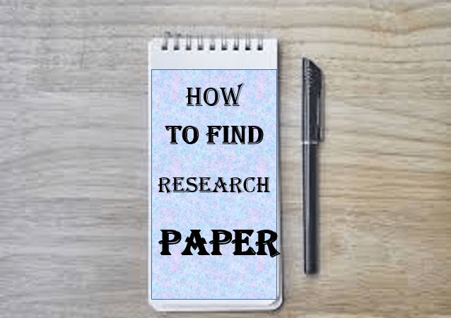 How to find good articles for a research paper