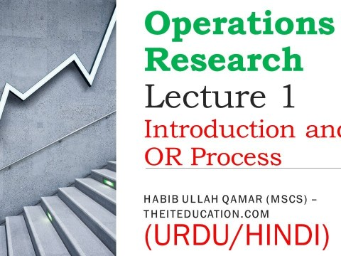 mth short lectures - Operations Research Lecture 1 urdu hindi