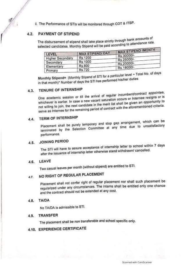 School Teacher Interns Jobs Announced By Punjab Government Selection Procedure