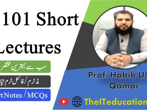 CS101 short lectures - cs101 short notes - cs101 midterm preparation - cs101 final term preparation revised course
