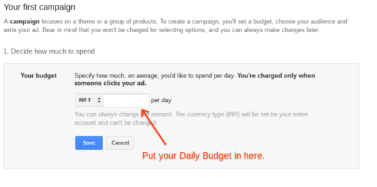 adwords Daily Bidget