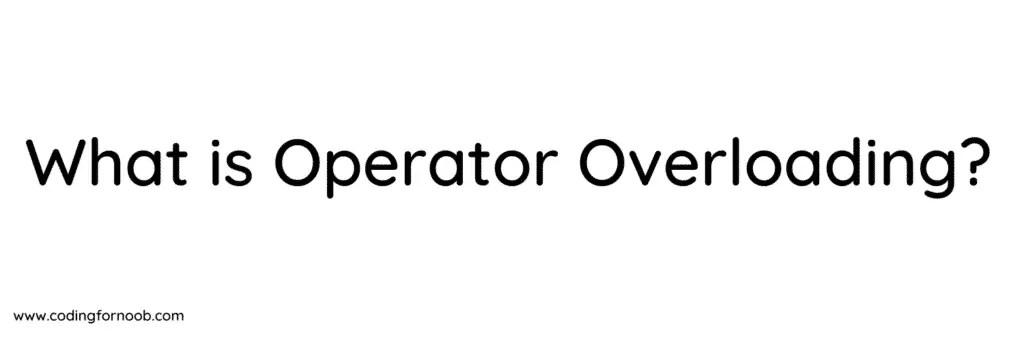 operator-overloading