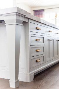 Kitchen Details: Paint, hardware, floor  Ivory Lane