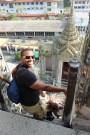 Climbing down the STEEP steps