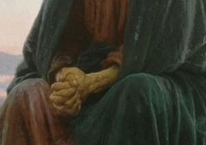 Kramskoi_Christ_dans_le_désert hands detail