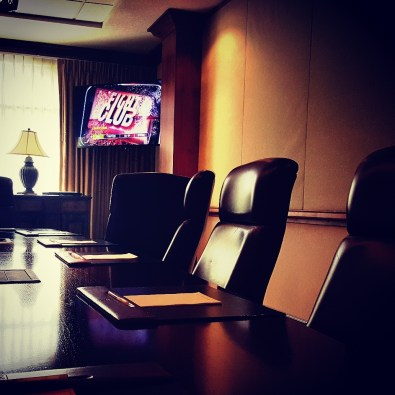 This year a few of us took over the boardroom to watch Fight Club