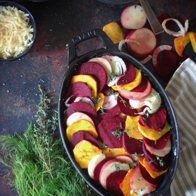 Winter Root Vegetable Gratin