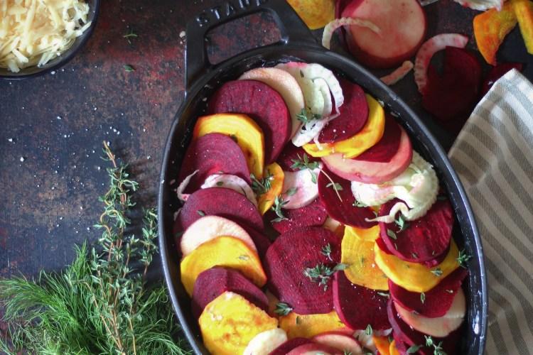 Winter Root Vegetable Gratin