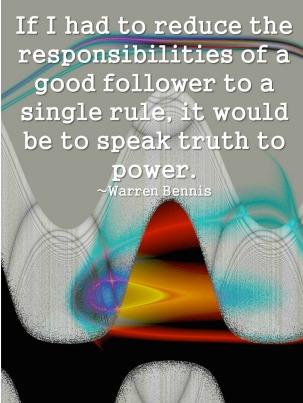 followership speaking truth to power