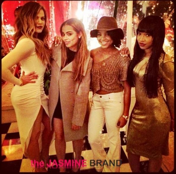 khloe kardashian-lauren london-kris jenner-kardashian-christmas eve party 2013-the jasmine brand