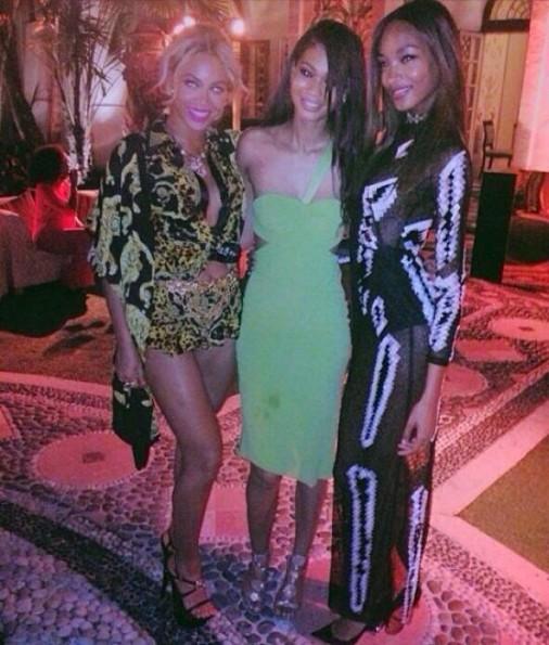 beyonce-chanel iman-joan smalls-new years eve 2014-versace house-the jasmine brand
