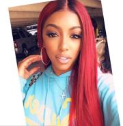 porsha williams debuts red hair