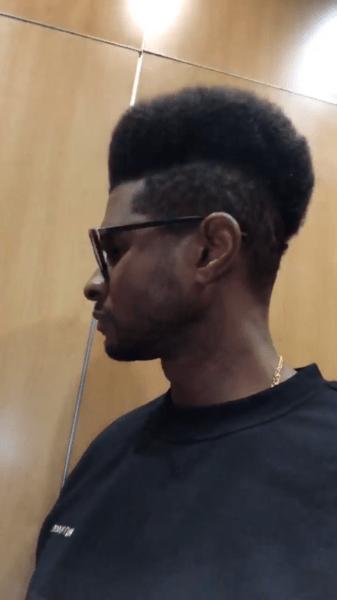 Usher Fade : usher, Usher, Switches, Hairstyle, Again,, Debuts, [VIDEO], TheJasmineBRAND