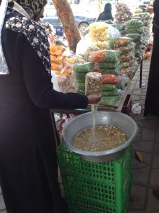 Others had bags of pre-prepared and packaged veg for sale