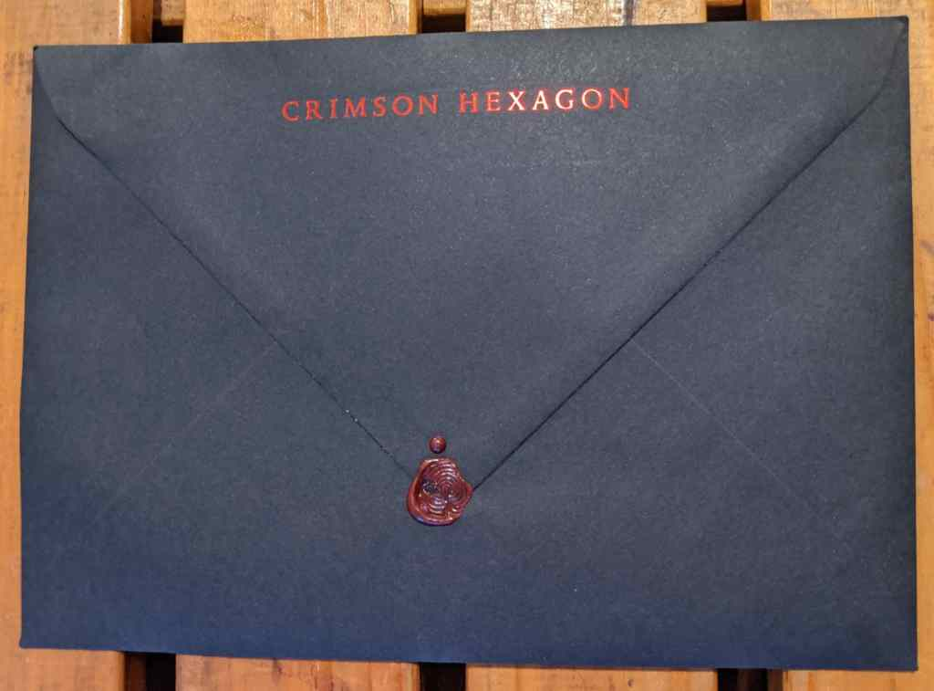 Crimson Hexagon Envelope