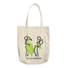 Cotton Tote Bag (bass and sax)