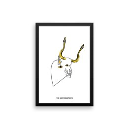 SAX NECK BULL POSTER Framed poster