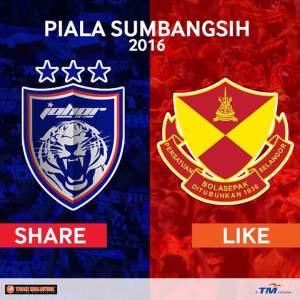 Video gol highlights jdt 1-1selangor piala sumbangsih 13.2.2016
