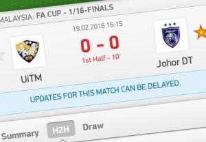 Video gol jdt 5-0 Uitm piala fa 19.2.2016