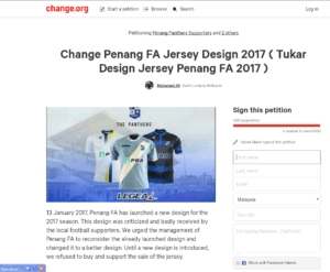 sign petition tukar design jersi
