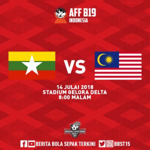 Live streaming malaysia vs myanmar u19 piala aff u19 14.7.2018
