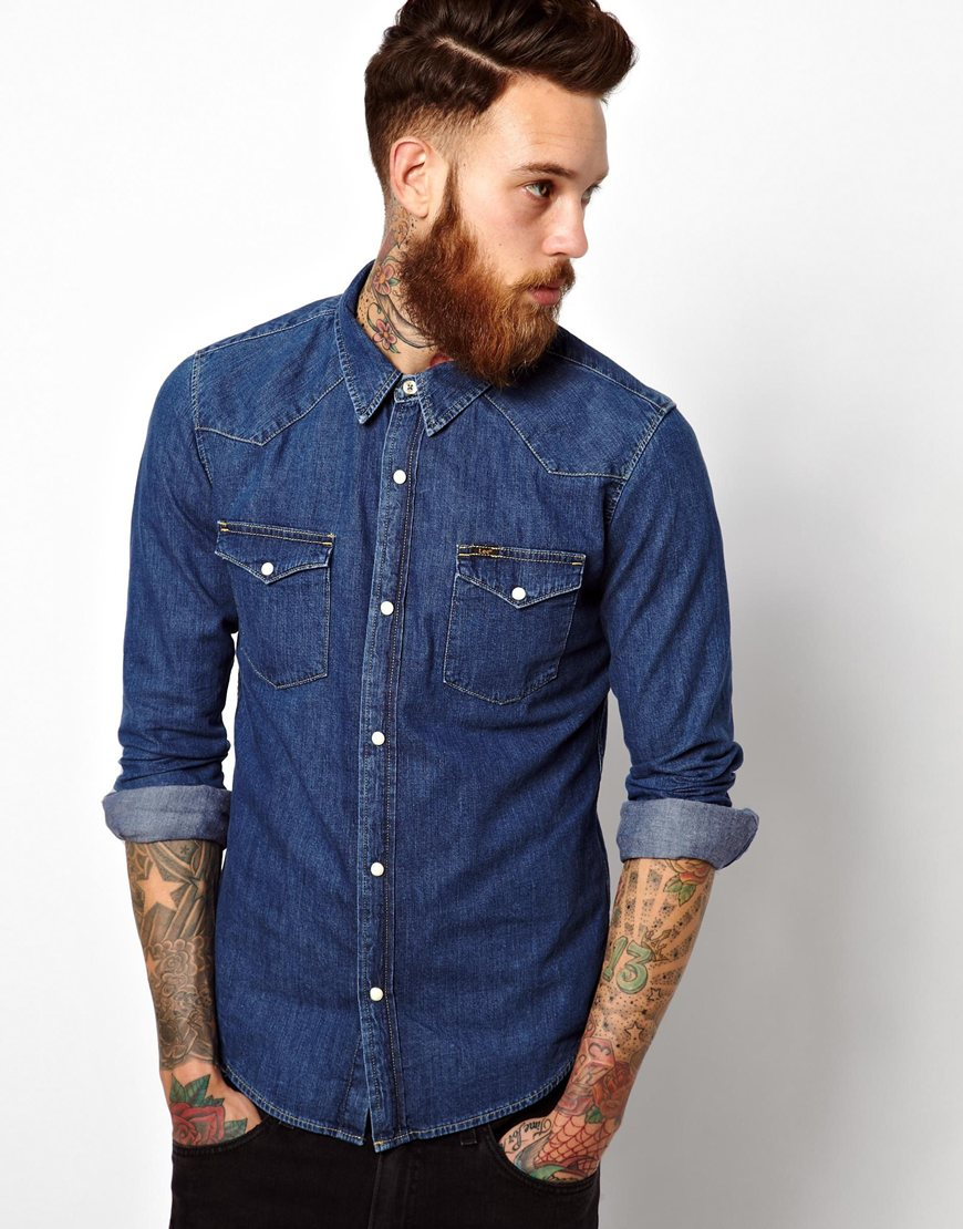 lee-denim-western-shirt-mid-stone