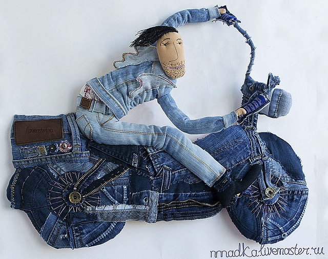 denim-motor-bike-art