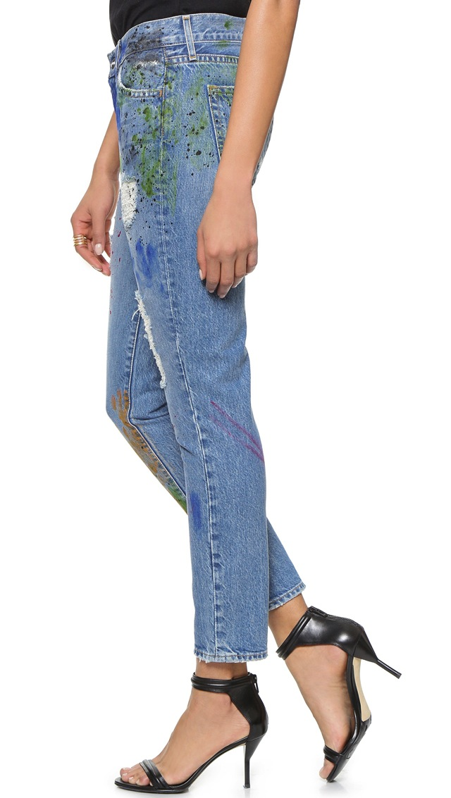 Koral Relaxed Boyfriend Jeans in Artisan Paint