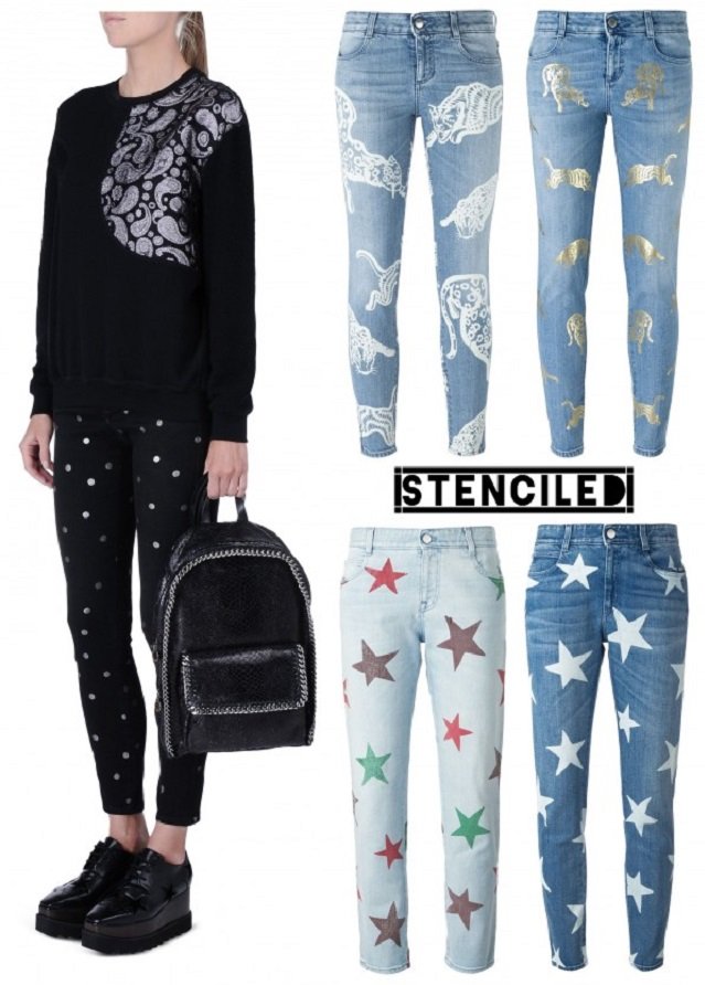 Stenciled Stella McCartney Jeans