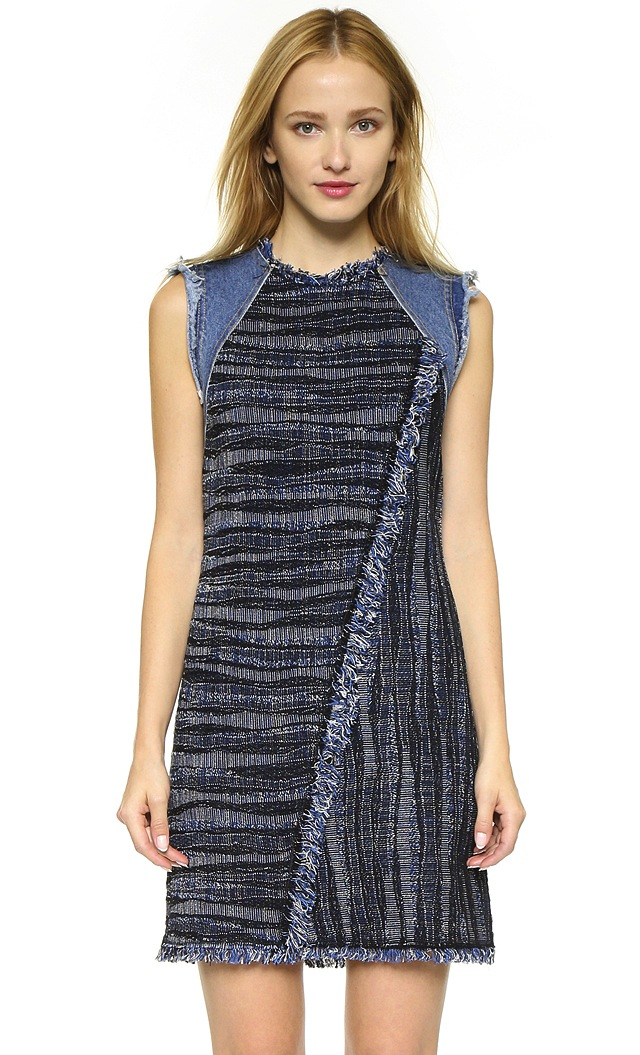 rebecca-taylor-denim-tweed-dress