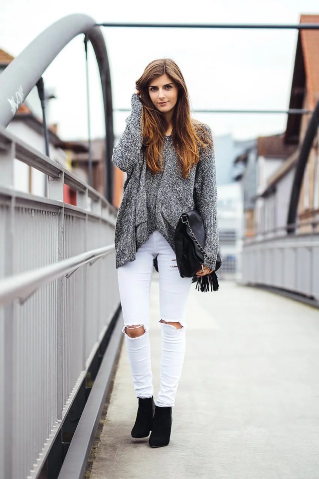 white-jeans-grey-sweater