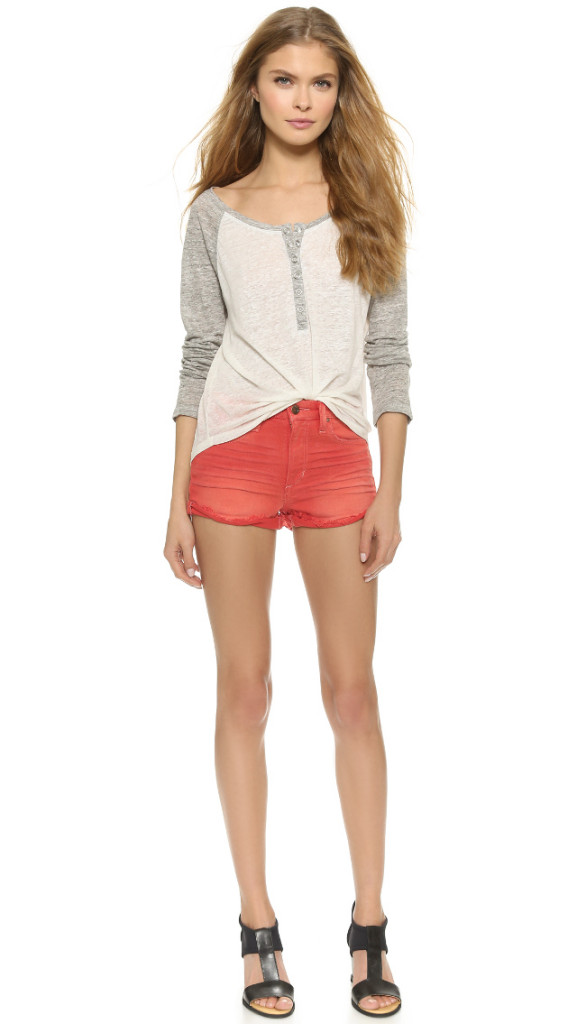 Joes Jeans High Rise Shorts RED