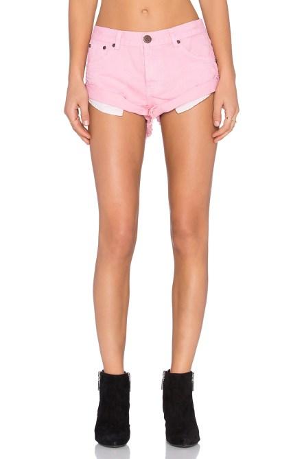 one teaspoon bandit shorts hot pink