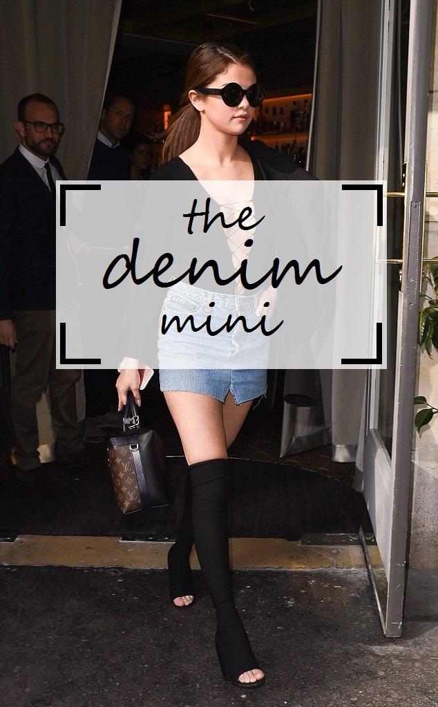 The Denim Mini Skirt Trend