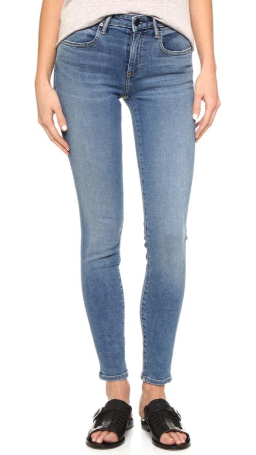 Denim x Alexander Wang Whip Skinny Jeans