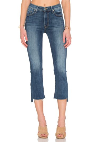 mother insider crop step fray jeans 2