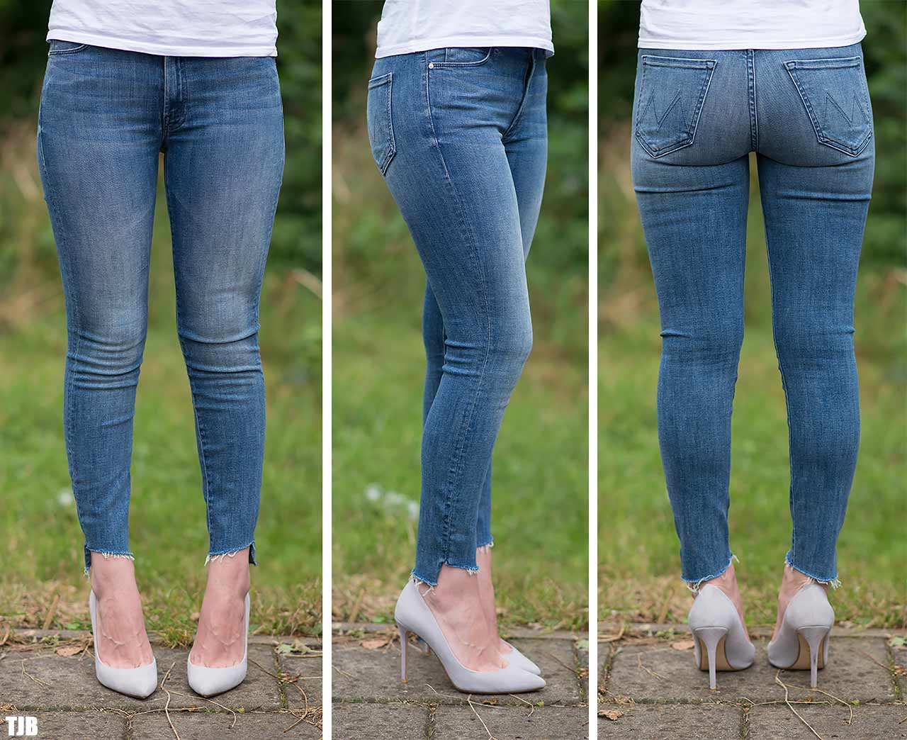 MOTHER The Stunner Zip Ankle Step Fray Jeans In Good Girls Do Review Worn