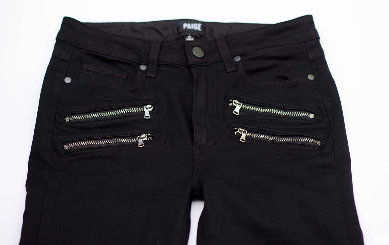 PAIGE High Rise Edgemont Jeans in Black Shadow Review