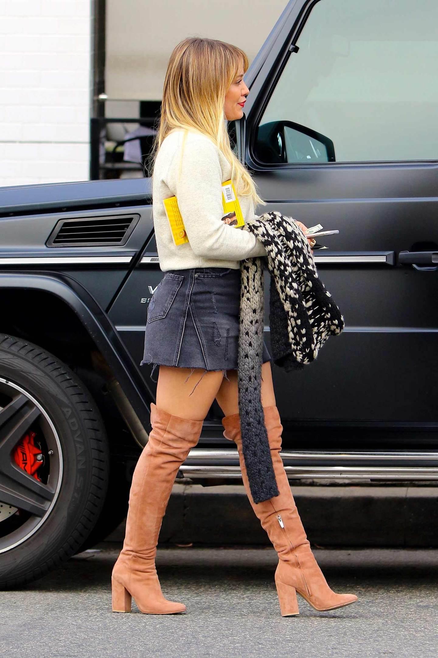 hilary-duff-denim-mini-skirt-thigh-high-boots