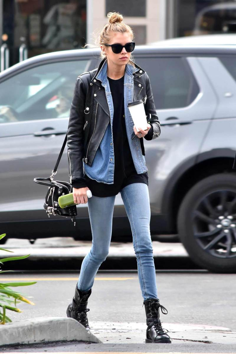 Stella Maxwell Does Double Denim Perfectly The Jeans Blog