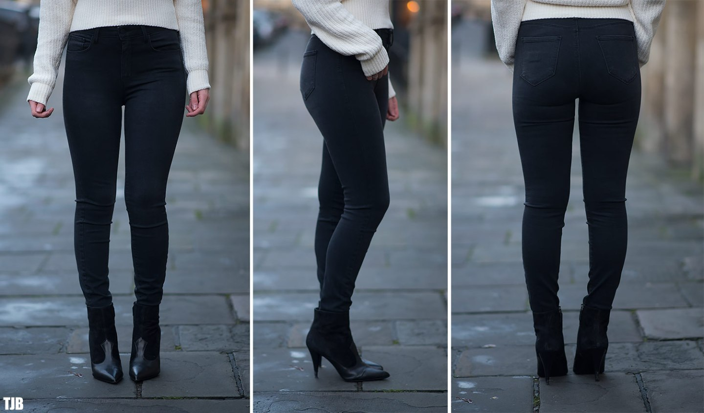 L'AGENCE Margot Skinny Jeans in Graphite Review