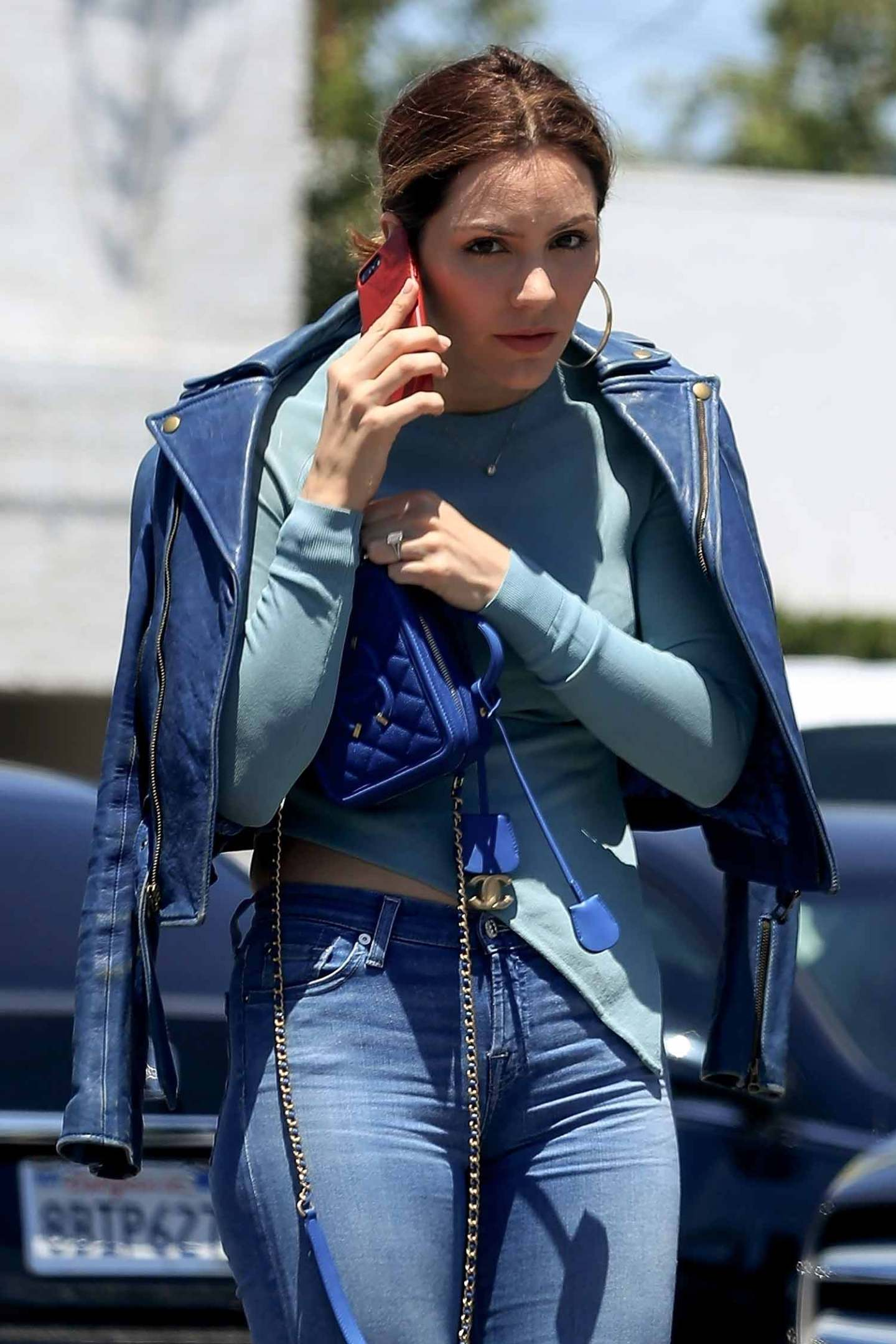 Katharine McPhee Wears 7 For All Mankind Jeans