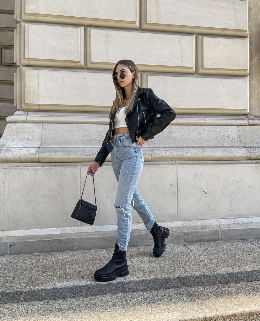 Chunky Boots And Jeans Trend For Autumn